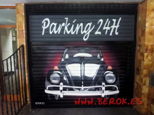 graffitis_persianas_parking_escarabajo