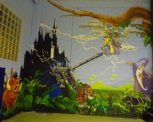 decoracion-mural-parque-infantil-Espai-Magic-en-Sant-Fruitos