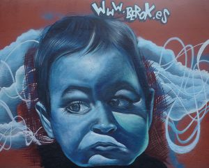 Baby-portrait-blue-graffiti