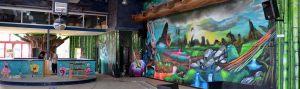 Mural-infantil-Bob-Esponja-en-parque-infantil-Imagine-World-de-Sant-Quirze-del-Valles