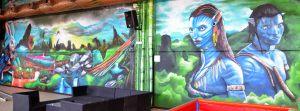 mural-avatar-en-parque-infantil-Imagine-World-de-Sant-Quirze-del-Valles