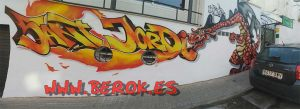 graffiti sant jordi masnou