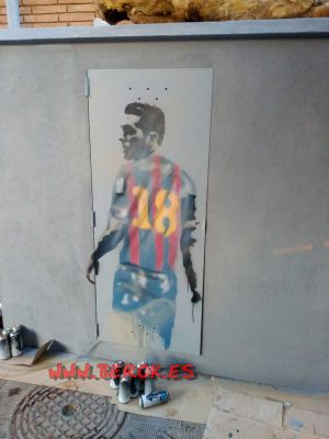 stencil Jordi Alba