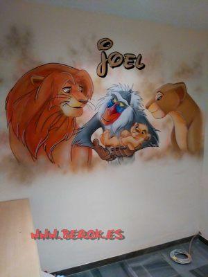 graffitis infantiles joel Rey León