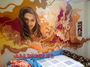 graffiti urbano habitación música