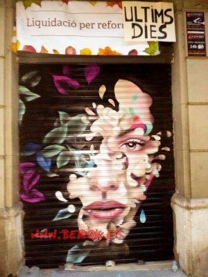 graffiti persiana Barcelona