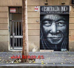 graffitis Esmeralda Ink vieja arrugas