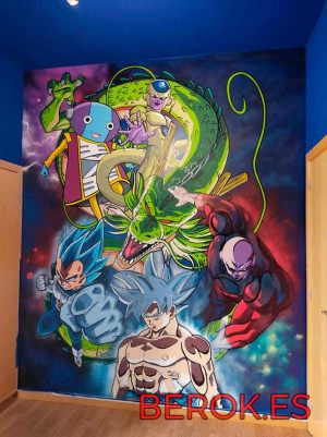 graffiti dragon ball Goku