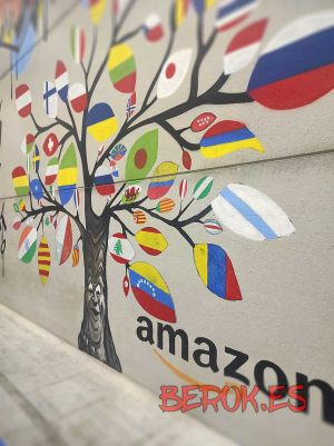graffiti arbol banderas amazon