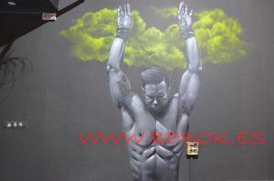 Graffiti mural gimnasio crossfit castelldefels