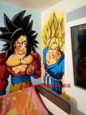 graffitis goku transformaciones todas