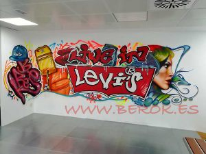 graffiti oficinas Levi's Levis España
