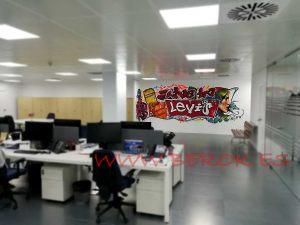 graffitis oficinas Levis Barcelona