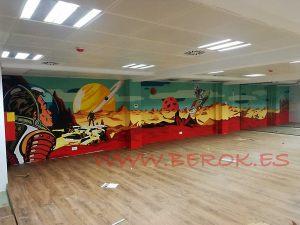 mural oficinas espacio Seocom