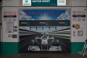 graffiti persiana f1 Hamilton