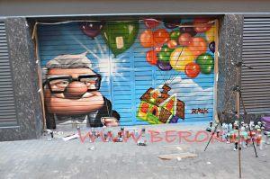 graffiti pelicula up residencia ancianos