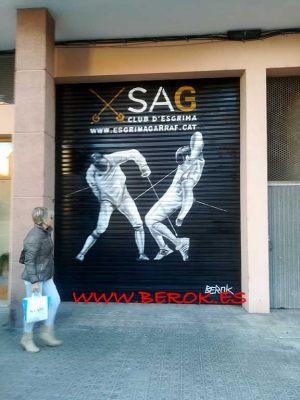 graffitis persiana club esgrima vilanova sag