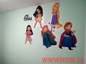 graffitis princesas disney bebe