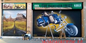 graffiti moto 3 ruedas the panther trike