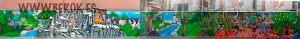 graffiti mural infantil colegio
