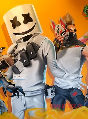 graffiti marshmello dibujos Fortnite