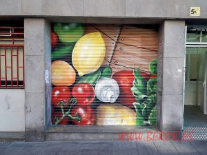 graffiti decorativo persianas