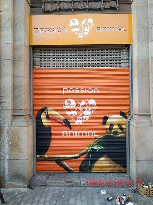 graffiti pasion animal persiana
