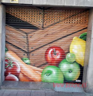 graffiti persiana frutas
