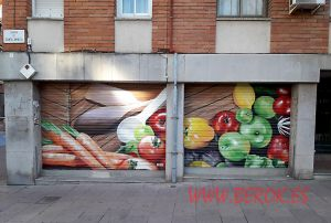 graffiti persianas Catering Alcala