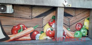 graffitis en persianas