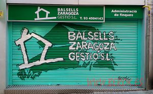 graffitis persianas Balsells Zaragoza gestion