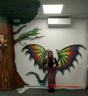 graffiti 3d alas dragon infantil