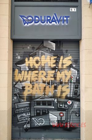graffiti persiana duravit home is where my bath is