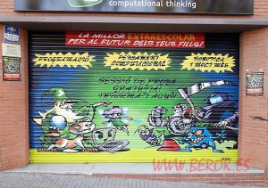 graffiti persiana personajes cartoon