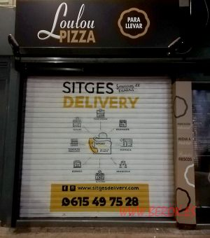 graffiti persiana sitges delivery lolou pizza