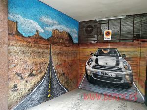 pintura mural parking mini desierto arizona