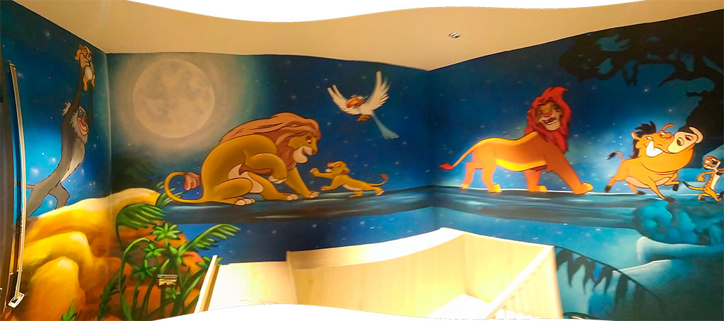Lion King of the Jungle Mural