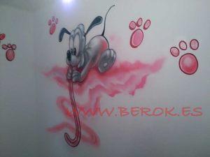mural infantil pluto