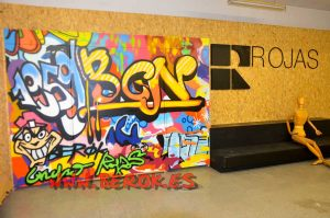 graffiti-mueble-cama-rojas
