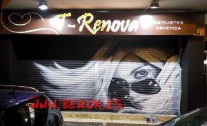 graffiti persiana T Renova Castelldefels
