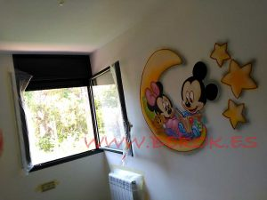 mickey minnie luna graffiti infantil