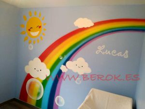 mural infantil arcoiris