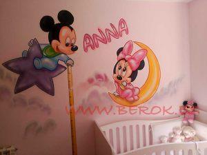 mural infantil disney Ana