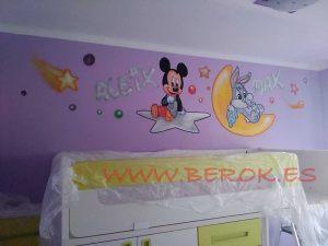 murales infantiles buggs bunny mickey