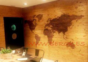 mural mapa mundi madera