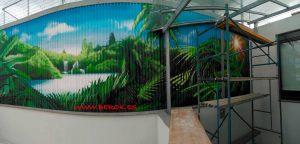 graffiti fachada terraza selva