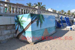 graffiti sitges playa bassa rodona