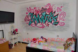 graffitis Janira habitacion juvenil