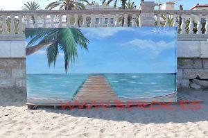 mural playa caseta