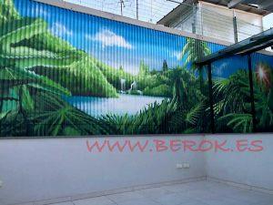 mural selva patio granollers
